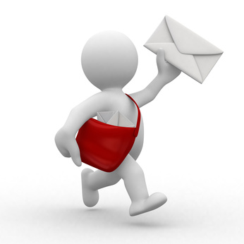 man delivering newsletter