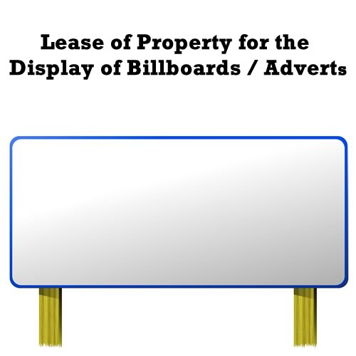 Lease of Property for the Display of Billboards / Adverts